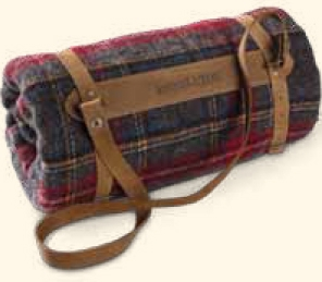 Leather Blanket Carrier (Available only with purchase of Pendleton throw)