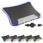 Custom Light Up Mouse Pad w/4 Port USB Hub (Rotating Top Coils)