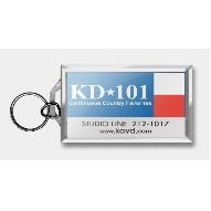 "Business Card Multi Color Acrylic Key Tag (2 1/4""x3 3/4"")"