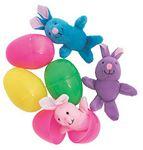 Custom Plush Bunny in Easter Egg
