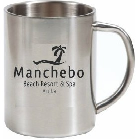 14 Oz. Double Wall Stainless Steel Mug w/ C Handle