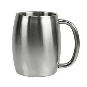 14 Oz. Double Stainless Steel Beer/ Coffee Mug with Built In Handle