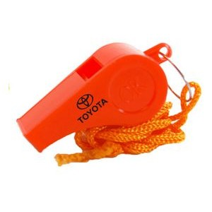 "Plastic Whistle w/14"" Lanyard"