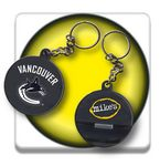 Custom Hockey Puck Bottle Opener Key Chain