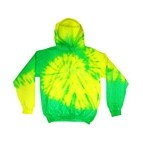 Youth Fluorescent Tie-Dye Pullover Hooded Sweatshirt
