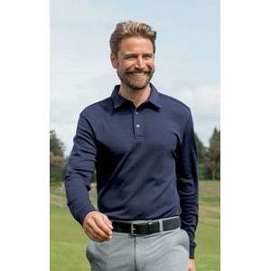 Cutter & Buck™ DryTec™ Men's Big & Tall L/S Belfair Pima Polo Shirt
