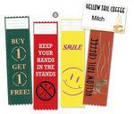 Custom Custom Tail-Type Ribbons - 1 Color Foil Stamp (2