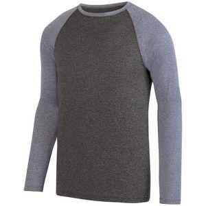 Custom Adult Kinergy Two Color Long Sleeve Raglan Tee Shirt