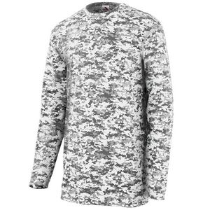 Custom Adult Digi Camo Wicking Long-Sleeve T-Shirt
