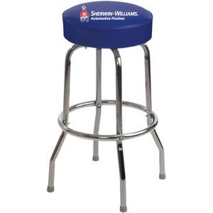 Single Ring Bar Stool with Chrome Frame and Swivel Seat