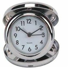 Stainless Steel Travel Alarm Clock (Foldable)