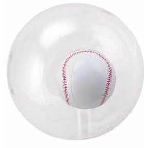 "16"" Inflatable Transparent Beach Ball w/ Inflatable Baseball Insert©"