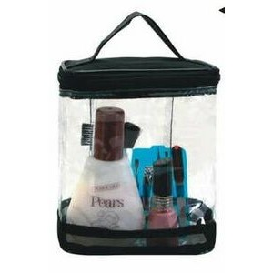 Show Off Clear Vinyl Bag with Contrast Trim