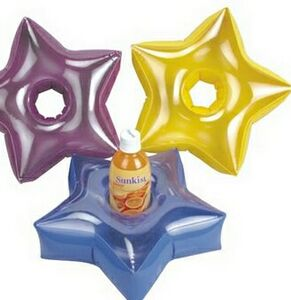 Inflatable Star Shaped Drink Holder