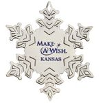 Custom Snowflake Silver Plated Holiday Ornament (2 3/4