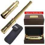 Custom Solid Brass Telescope w/Nylon Case