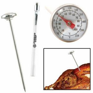 Analog Meat Thermometer w/ Pocket Sleeve and Clip