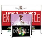 Custom Banner w/ Expandable Stand