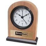 Custom Solid Ash Wood Alarm Clock