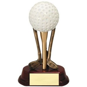 "Golf Ball on Clubs Resin Award (6 3/4"")"