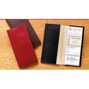 Ariline Glazed Calfskin Business Card File