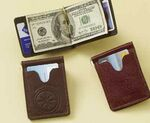 Custom Aniline Glazed Calfskin Deluxe Money Clip Wallet