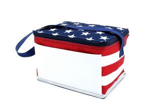Custom Patriotic 6 Pack Cooler