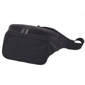 600 Denier Nylon Classic 3 Zippers Fanny Pack