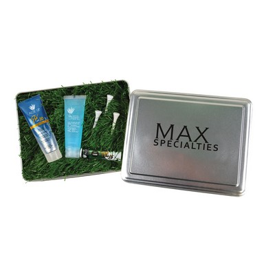 Golf Tin with Artificial Turf