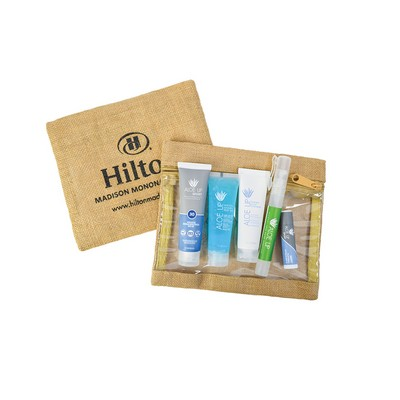 Jute Envelope with Clear Front Pro Spa Towel