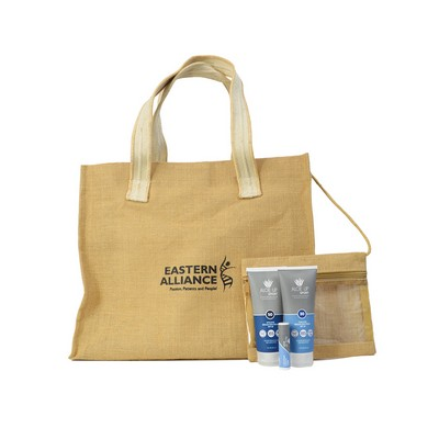 Jute Beach Bag with Cosmetic Bag & Pro Line