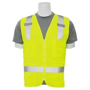 Aware Wear® S414 ANSI Class 2 Surveyor's Woven Oxford High Visibility Safety Vest