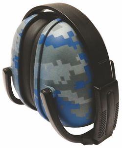 239 Blue Digital Camo Foldable Ear Muff with Adjustable Band