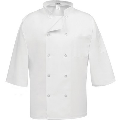 C10P-3/4 Sleeve Classic Chef Coat White (Large)
