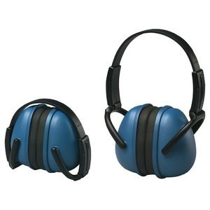 239 Blue Foldable Ear Muff with Adjustable Band