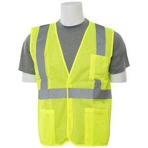 Aware Wear® S362P ANSI Class 2 Hi-Visibility Mesh Economy Vest w/ Pockets