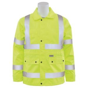 S371 Aware Wear® ANSI Class 3 Woven Oxford PU Coated Raincoat (Medium)