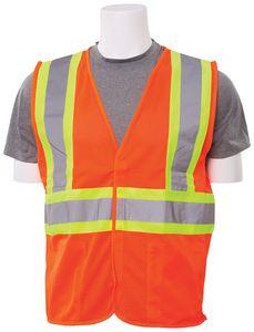 S382 Aware Wear ANSI Class 2 Mesh Hi-Viz Orange Vest (Large)