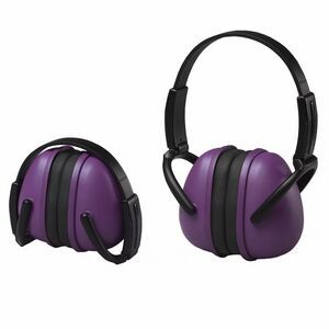239 Purple Foldable Ear Muff with Adjustable Band