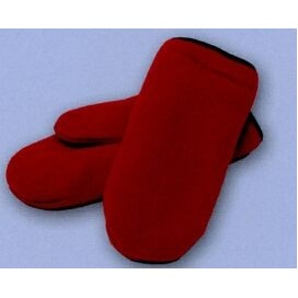 Promotional Polar Fleece Double Layer Mittens w/Black Binding