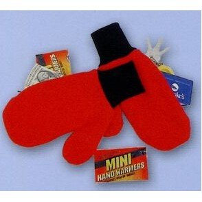 Promotional Polar Fleece Double Layer Mittens w/Zippered Pockets