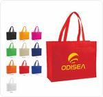 Custom 1 Color printed Q-Tees Tote Bag (Colors)