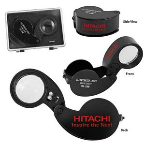 Lightweight 10x Illuminated Loupe Magnifier