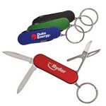 Custom 4 Function Pocket Knife w/Key-Ring