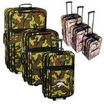 Custom 3 Piece Expandable Camo Rolling Luggage Set