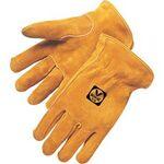 Custom Bourbon Brown Split Cowhide Driver Gloves