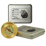 Custom Desk Compass In Tin Box