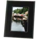 Custom Black Faux Leather Picture Frame