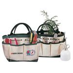 Custom 12 Oz. Ramie Canvas Garden Tote Bag