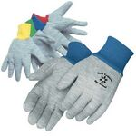 Custom Kid's Gray Jersey Gloves w/ Assorted Color Wrist